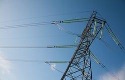 High voltage line between cities Stock Images