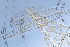 High Voltage Line, Clear Sky Stock Images