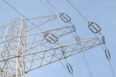 High Voltage Line, Clear Sky Royalty Free Stock Photos