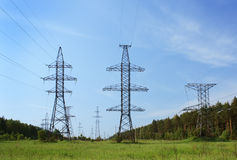 High voltage line Stock Images