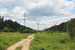 High voltage line Stock Image