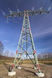 High Voltage Line And Dark Blue Sky Royalty Free Stock Photo