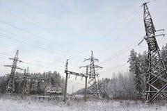High voltage line stock photos