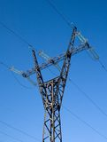 High voltage line mast Stock Photography