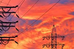 High Voltage Line Stock Photography