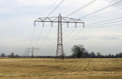 High-voltage line Stock Images