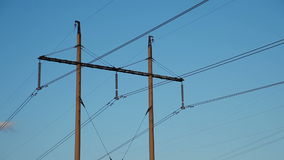 High-voltage Line. Poles With Wires stock footage