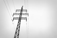 High-voltage Line. In the sky Royalty Free Stock Photography