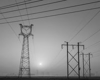High voltage line tower Stock Photos