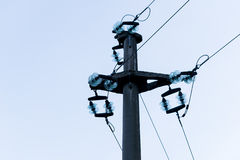 High Voltage line. High Voltage Transmission line in the mountain Stock Image