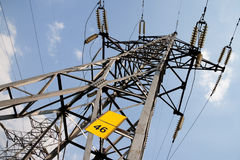 High Voltage lines Royalty Free Stock Images