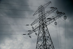 High Voltage Lines Stock Photo