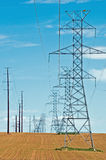 High voltage lines Royalty Free Stock Photography