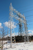High-voltage lines Royalty Free Stock Photography