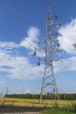 High-voltage lines Stock Photo