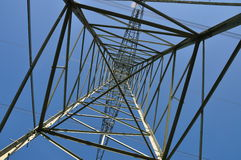 High voltage mast. High voltage electric power pylon Stock Images