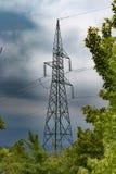 High voltage mast Stock Photo