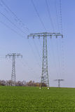 High voltage mast Royalty Free Stock Images