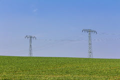 High voltage mast Stock Photography