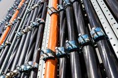 High-voltage multi-core wires Stock Photo