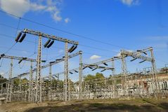 High voltage plant royalty free stock photo