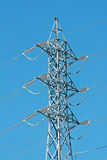 High voltage pole. Top of a High voltage pole Royalty Free Stock Photos