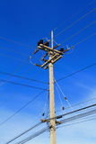 High Voltage Pole And Lines Royalty Free Stock Photo