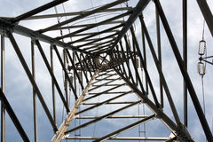 High Voltage Pole from Below - Inside Royalty Free Stock Photos