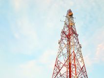Antenna. And the blue sky in Thailand Royalty Free Stock Images