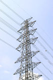 High voltage pole Stock Images