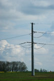 High voltage pole Royalty Free Stock Image