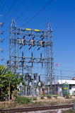 High voltage pole Stock Photography