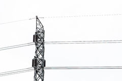 High voltage pole. Royalty Free Stock Photos