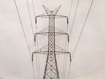 High voltage pole sky backgroun royalty free stock images