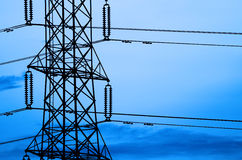 High voltage Pole Royalty Free Stock Images