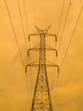 High voltage pole sky background. Stock Image