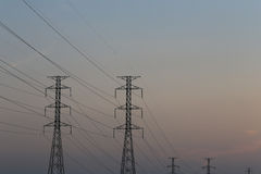 High voltage pole of transmission lines. Stock Photography