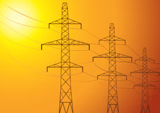 High-voltage poles. Royalty Free Stock Photography