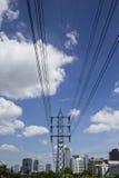 High voltage poles in Bangkok Stock Photography