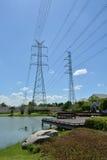 High voltage poles. In Bangkok, Thailand Royalty Free Stock Photography