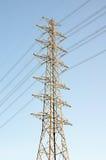 High voltage poles Stock Photo