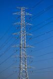 High voltage poles,Mono pole transmission line tower. The power energy in the city royalty free stock image