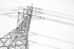 High voltage poles Stock Photography