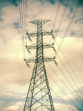 High voltage post,electric pole,Power poles,High voltage power p. Ole with wires tangle royalty free stock image