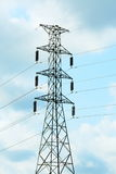 High voltage post or electric post. Stock Photos