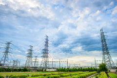 High voltage post Stock Photography