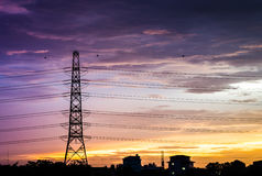 High voltage post royalty free stock images
