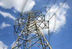 High voltage post.High-voltage tower Stock Photos