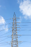 High voltage post or High voltage tower Stock Photography