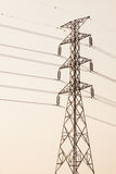 High voltage post.High-voltage tower with black and white picture style Stock Images
